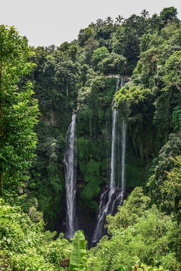 Sekumpul Waterfall in the jungle. Bali, Indonesia stock photos