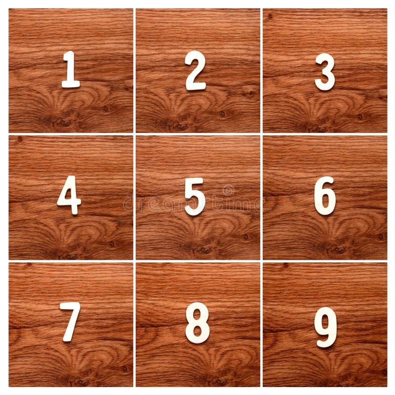 Sekwencja liczby na stole zdjęcie stock