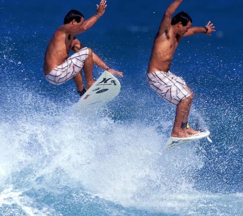 sekwencja powietrza surfer obraz royalty free