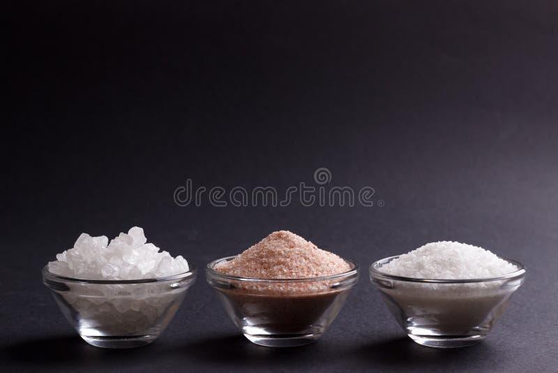Sel blanc et rose photo stock