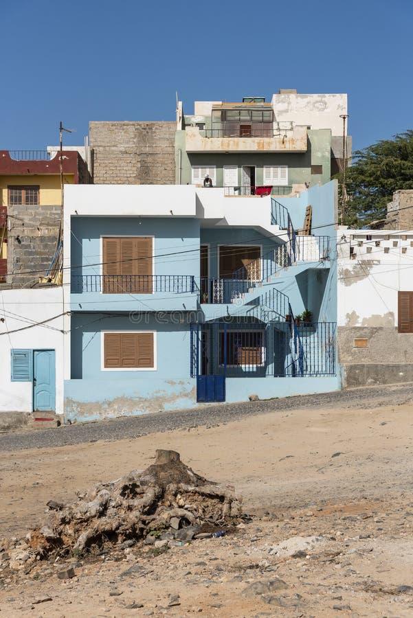 Sel bleu Rei Boa Vista de construction résidentielle image libre de droits