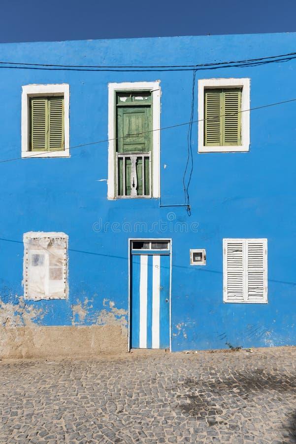 Sel bleu Rei Boa Vista de façade image libre de droits