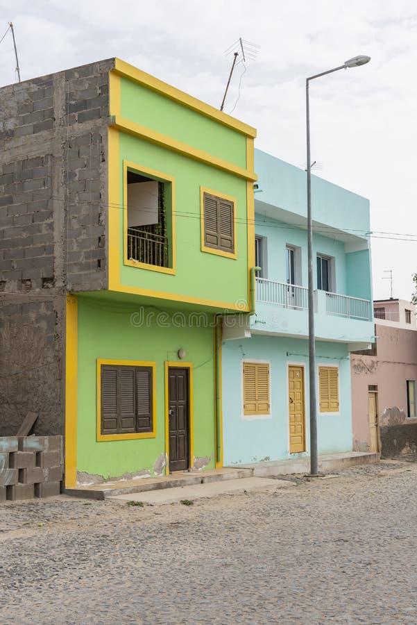 Sel coloré Rei Boa Vista de bâtiments résidentiels photo stock
