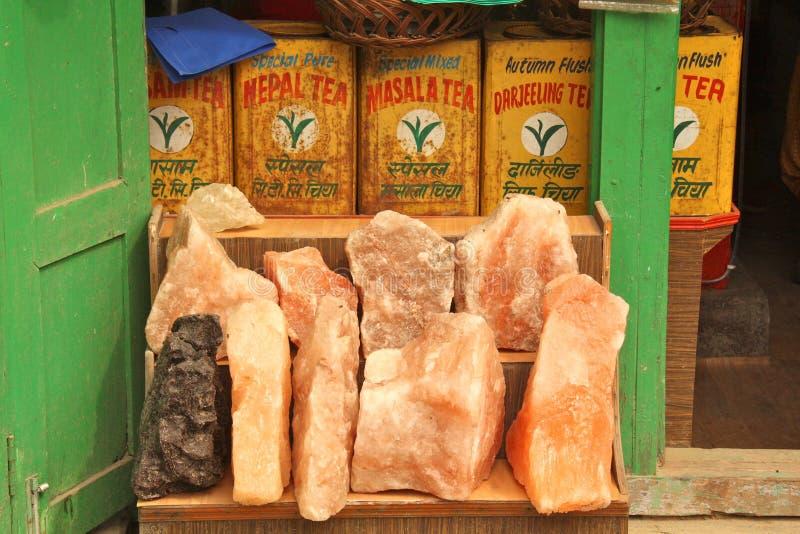 Sel de l'Himalaya photos stock