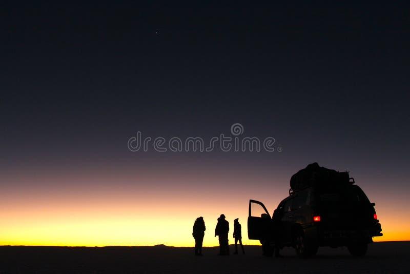 Sel du ` s du monde le plus grand plat, Salar de Uyuni photo libre de droits