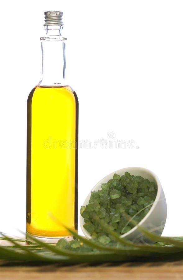 Sel et pétrole de Bath image stock