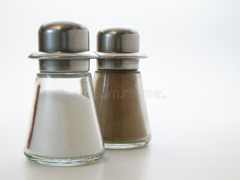 Sel et poivre photo stock