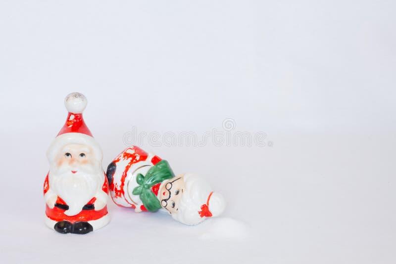 Sel et poivre de Noël de cru image libre de droits