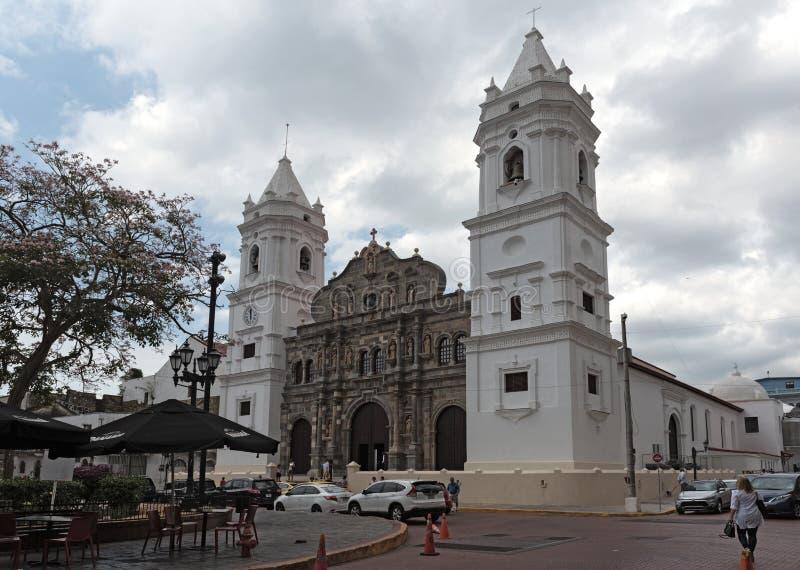 Sel Felipe de l'Antigua de La du metropolitana De Santa Maria de basilique de cathédrale dans le vieux viejo Panama du Panama de  photos stock