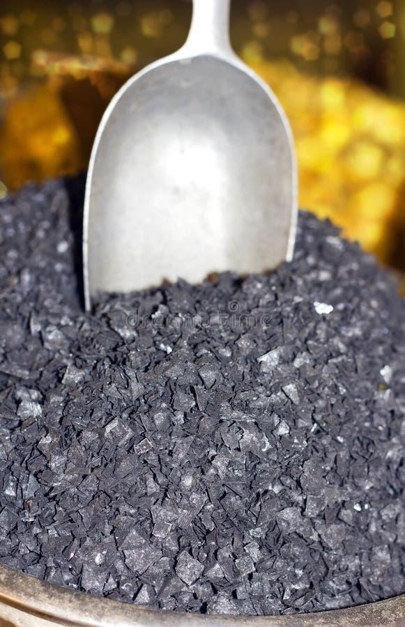 Sel noir image stock