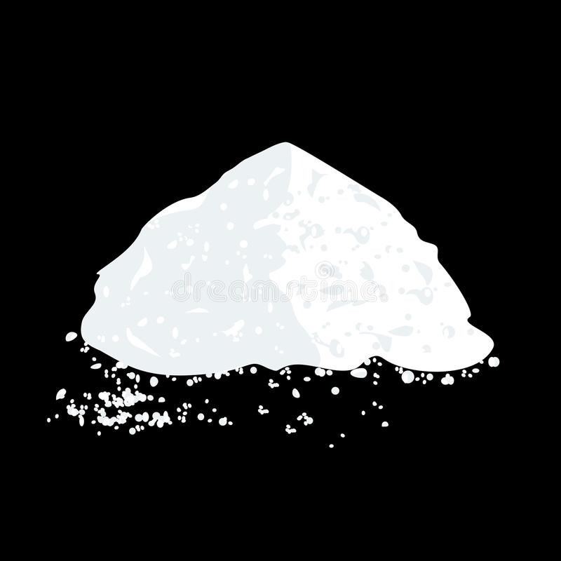 Sel ou Sugar Pile illustration stock