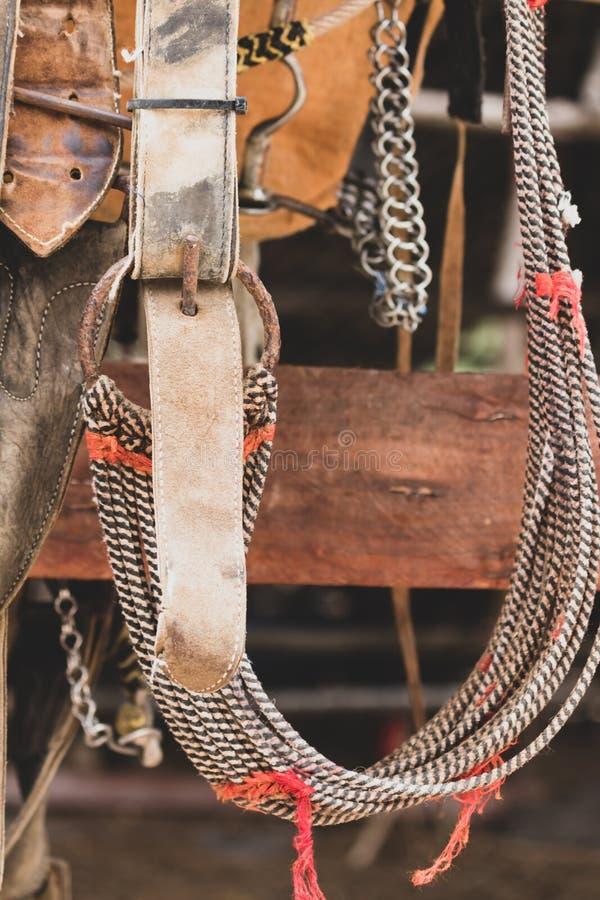 Sela rústica do cavalo imagem de stock