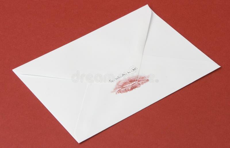 Selado com um beijo loving fotos de stock royalty free