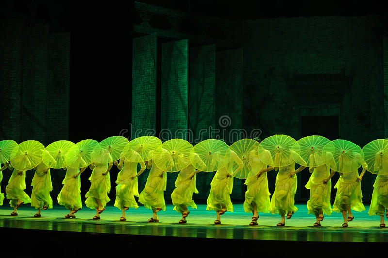 Selaginella moellendorfii Hieron-The second act of dance drama-Shawan events of the past. Guangdong Shawan Town is the hometown of ballet music, the past focuses stock photography