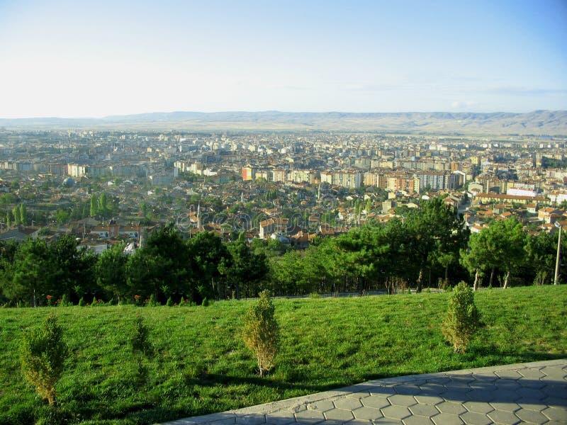 从Selale公园,埃斯基谢希尔的顶端看法 库存图片