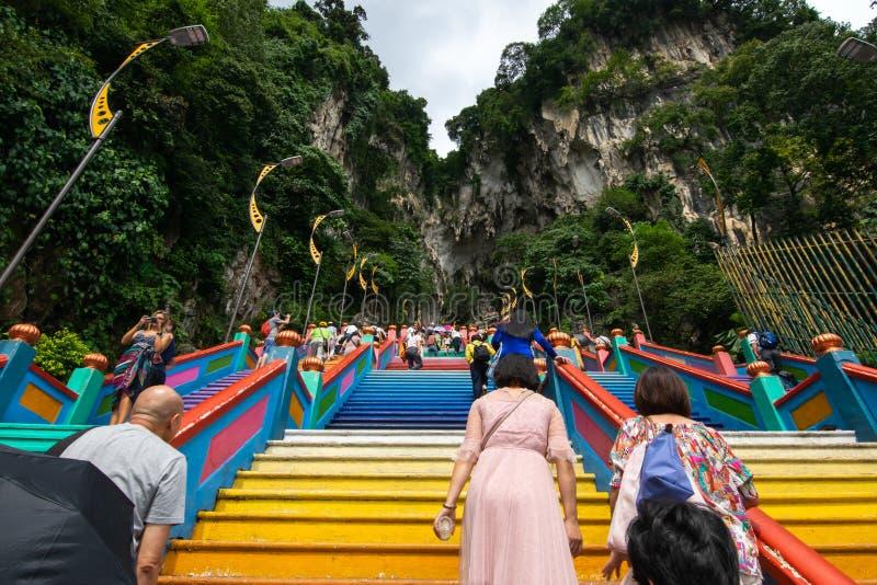 Selangor, Malaisie - 8 décembre 2018 : Vue de région de voyageurs jusqu'au dessus des cavernes de Batu photos libres de droits