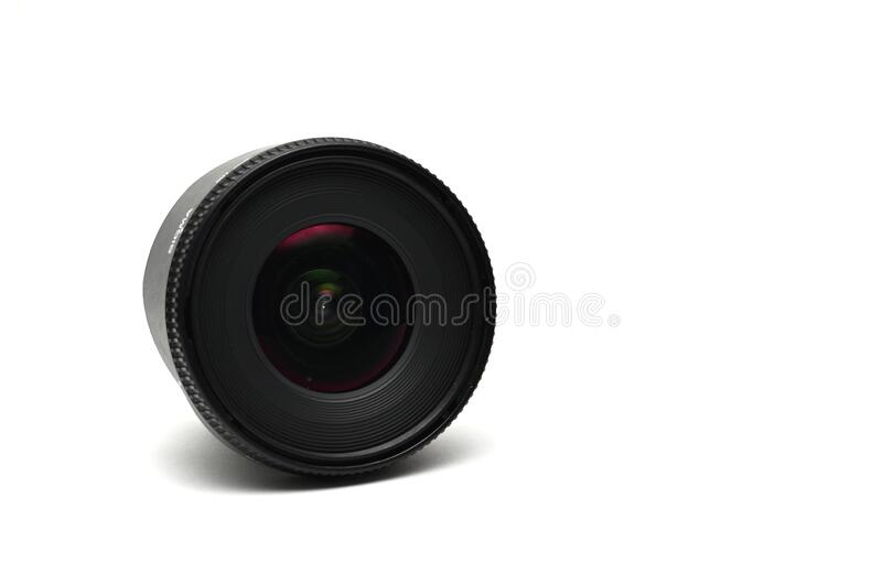 Selangor, malaysia- march 30, 2020 :sigma zoom lens 10-20mm F4-5.6 EX DC HSM on white background. royalty free stock photography
