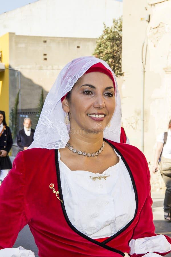 SELARGIUS, ΙΤΑΛΙΑ - 9 ΣΕΠΤΕΜΒΡΊΟΥ 2012: Αρχαίος γάμος Selargino - Σαρδηνία στοκ φωτογραφίες με δικαίωμα ελεύθερης χρήσης