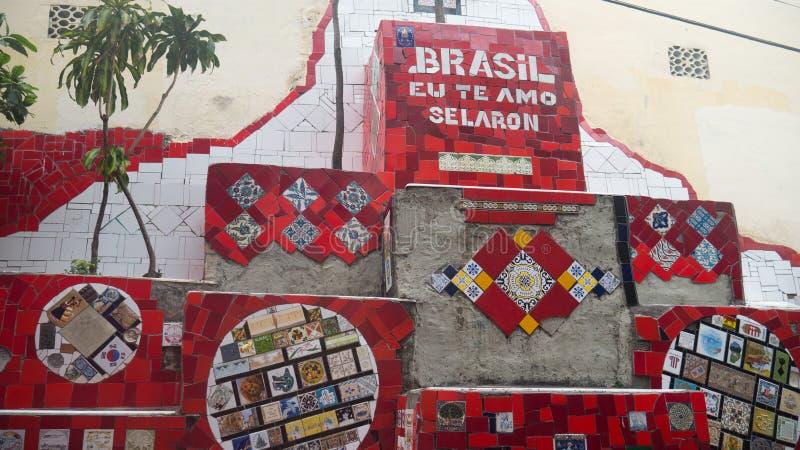 Selaron Stairs in Rio de Janeiro royalty free stock photo