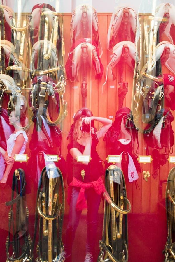 Selas espanholas da escola de equitação imagens de stock royalty free