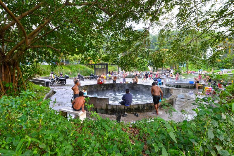 Selayang Hot Spring. Is one of the closest hot springs to Kuala Lumpur and is popular among locals royalty free stock image