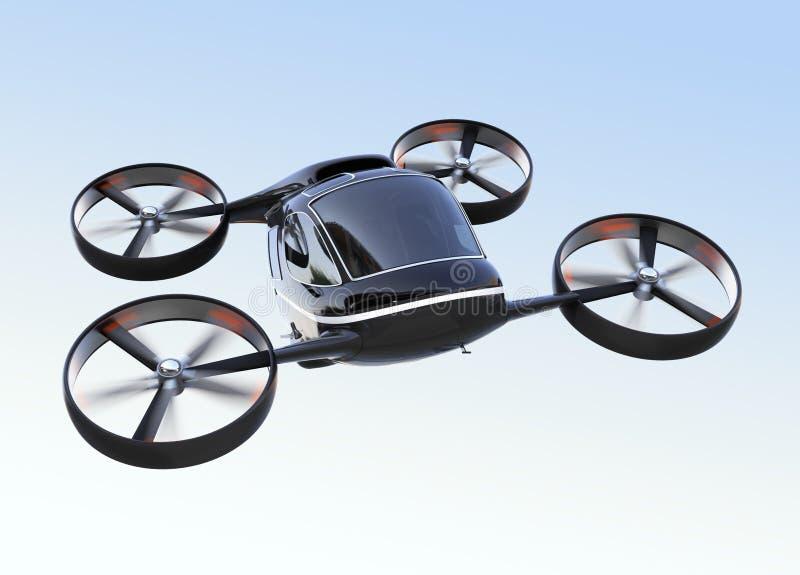 Selbst, der Passagier-Drohnenfliegen im Himmel fährt stock abbildung