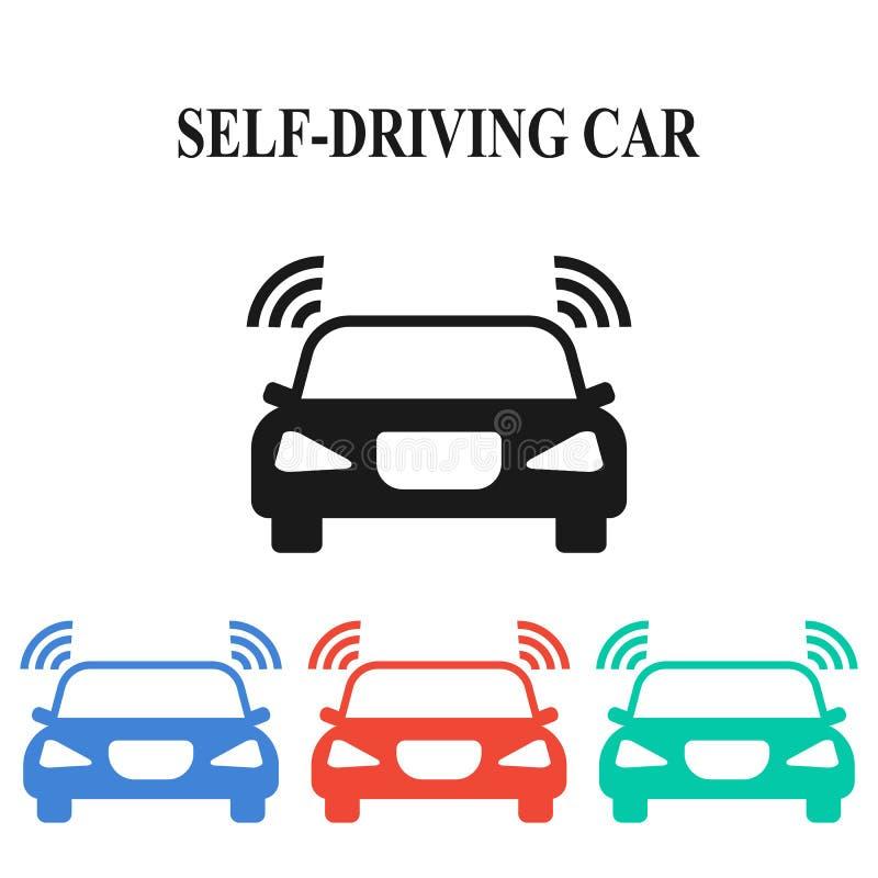 Selbst-Fahren des Autos lizenzfreie abbildung