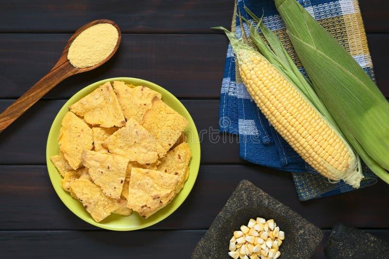 Selbst gemachte gebackene Corn chipe stockfoto