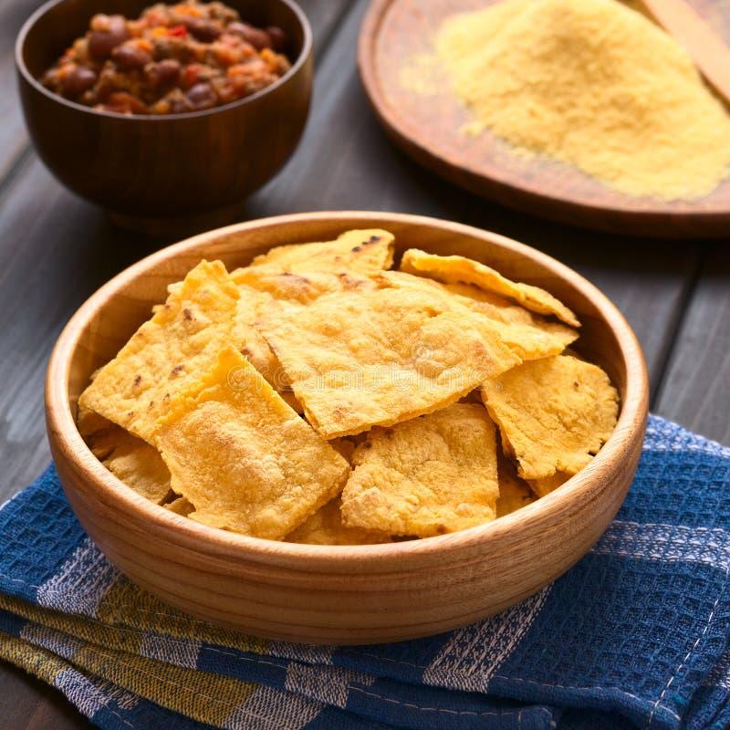 Selbst gemachte gebackene Corn chipe lizenzfreies stockbild