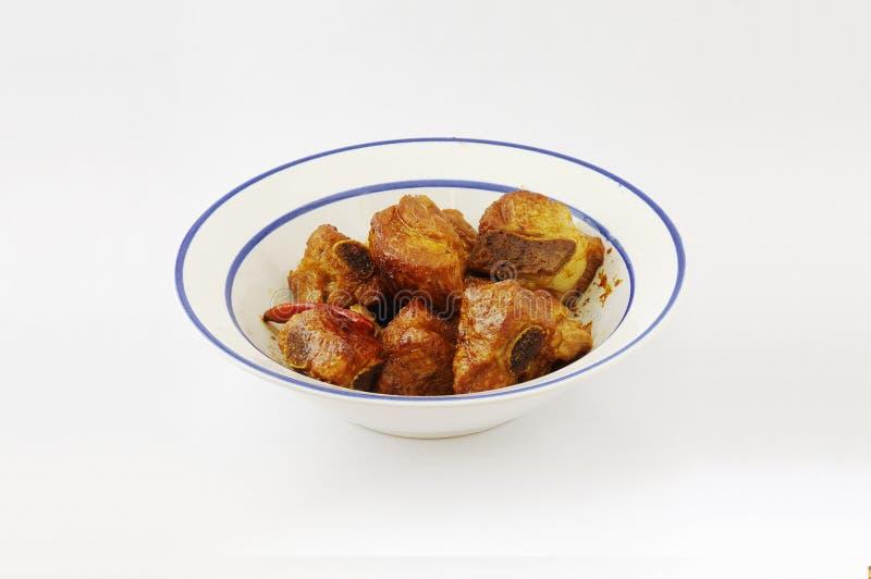 Gekochte Schweinefleisch-Rippe - chinesische Nahrung stockbild