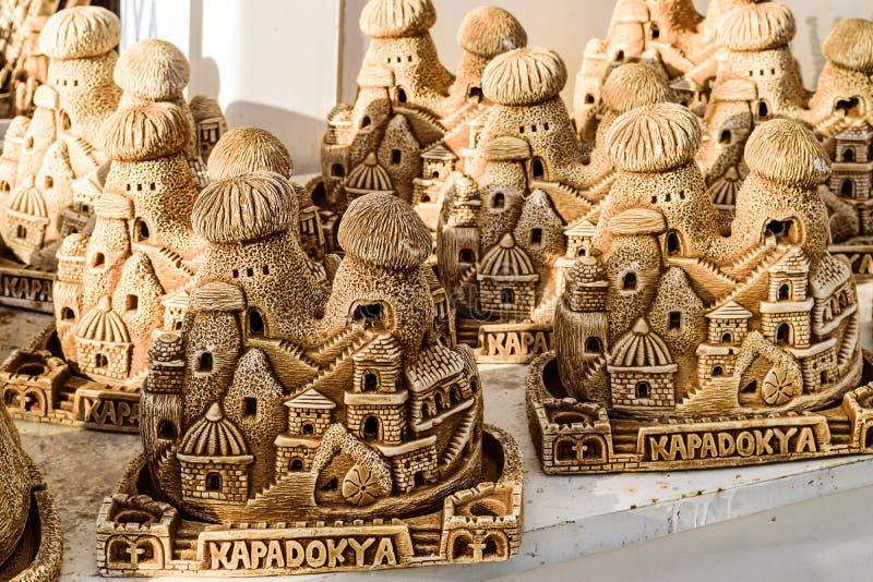 Selbst gemachte Hausandenken in Cappadocia stockbild