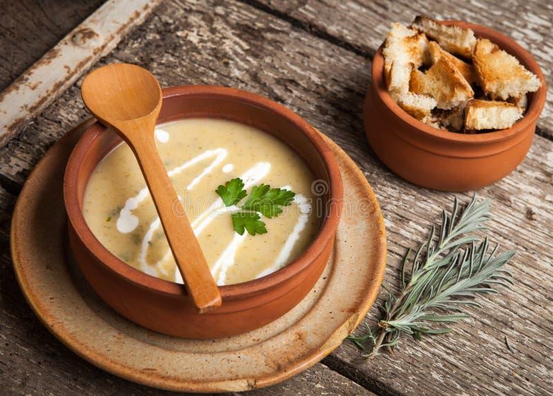 Selbst gemachte Suppe lizenzfreies stockfoto