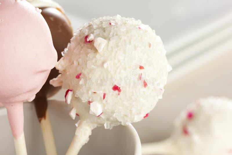 Selbst gemachter Feinschmecker Cakepops lizenzfreie stockbilder