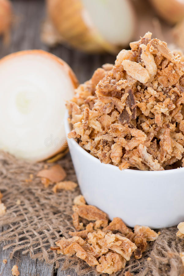Selbst gemachter Fried Onions stockfoto