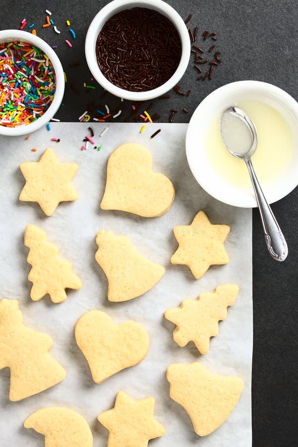 Selbst gemachter gebackener Sugar Cookies lizenzfreies stockbild