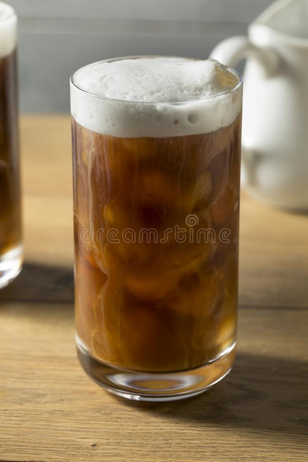Selbst gemachter kalter Gebräu-Kaffee stockfotos