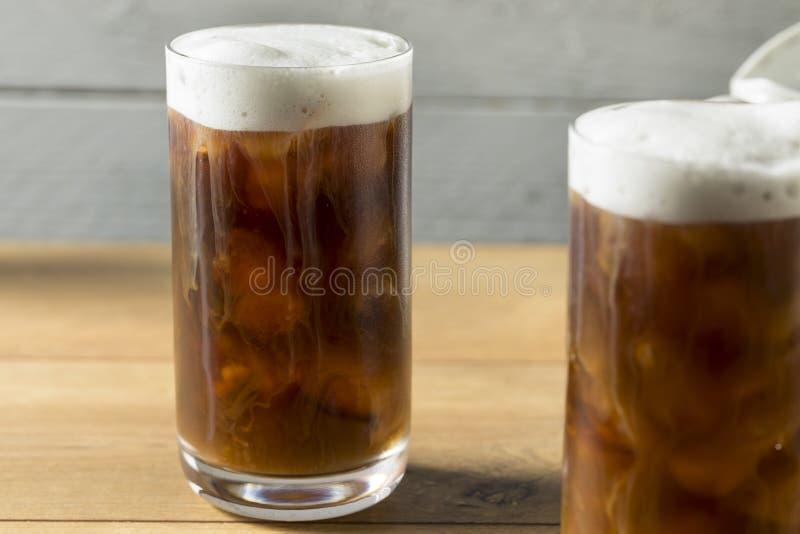 Selbst gemachter kalter Gebräu-Kaffee lizenzfreies stockbild