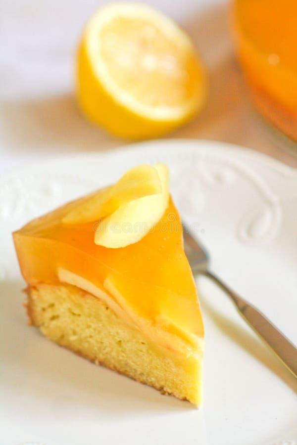 Selbst gemachter Kuchen mit orange Gelee lizenzfreie stockfotos