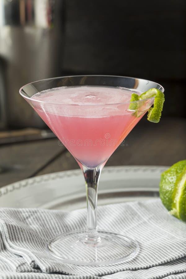 Selbst gemachter rosa Wodka-Weltgetränk stockfotos