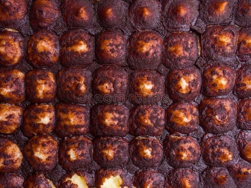 Selbst gemachter Tiramisu-Kuchen S??er italienischer Nachtisch sehr viele Fleischmehlkl??e lizenzfreies stockfoto