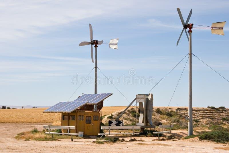 Selbst gemachter Wind und Solar lizenzfreies stockbild