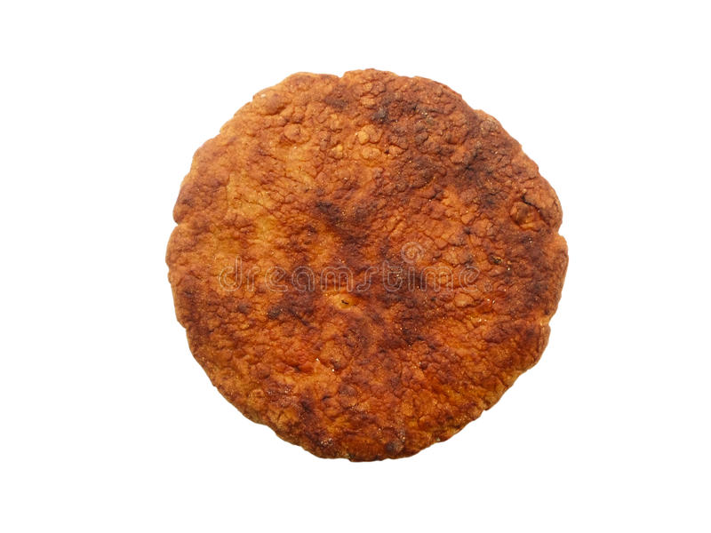 Selbst gemachtes Brot wird auf einem weißen Hintergrund lokalisiert lizenzfreies stockfoto