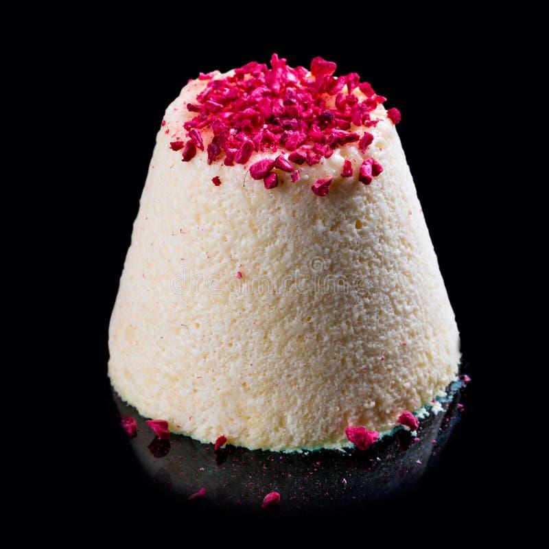 Selbst gemachtes Eiscreme semifreddo Sahnig mit Nusslutschern stockbild