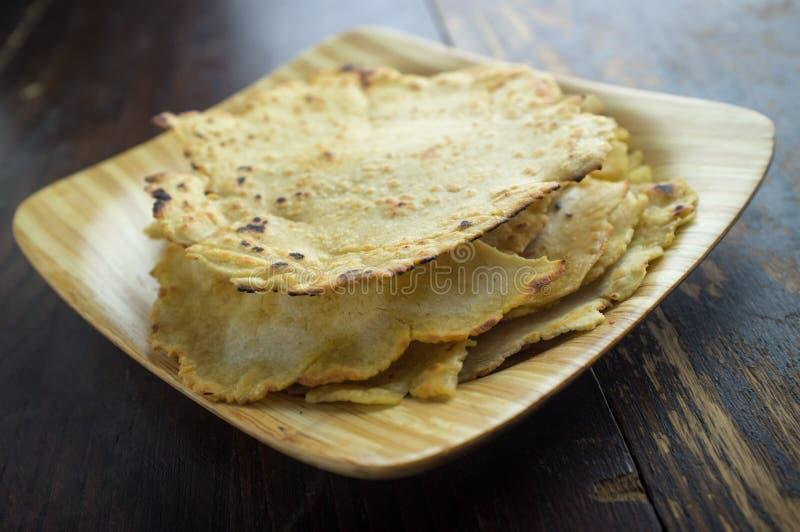 Selbst gemachtes Tortilla-Brot lizenzfreies stockfoto