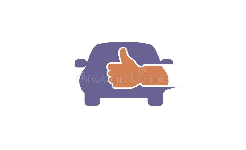 Selbstabkommen-Daumen Logo Design Illustration lizenzfreie abbildung