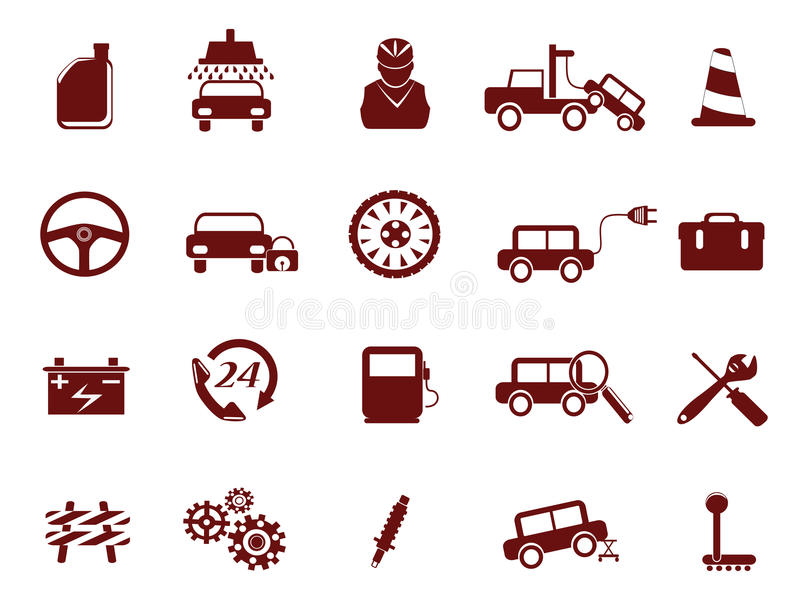 Selbstauto-Service-Ikone vektor abbildung