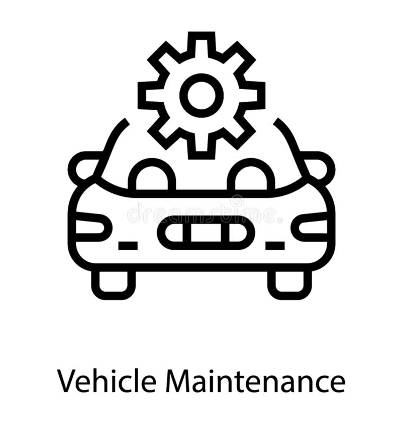 Selbstfahrzeug-Wartung vektor abbildung