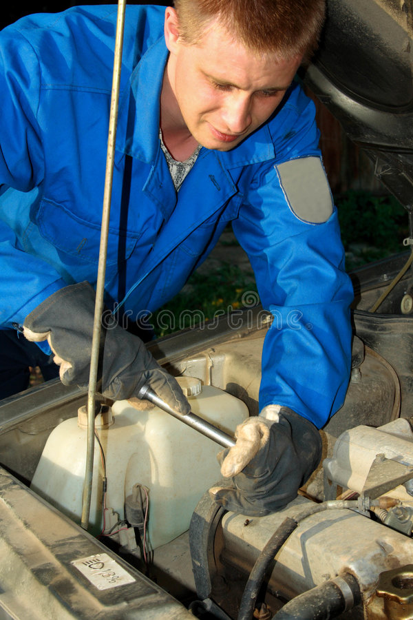Selbstmechanikerfunktion stockfoto