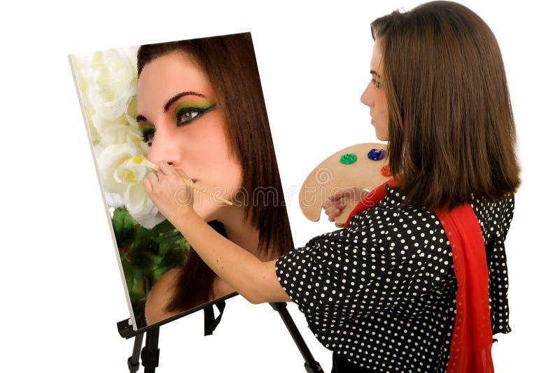Selbstportrait des Künstlers stockbild
