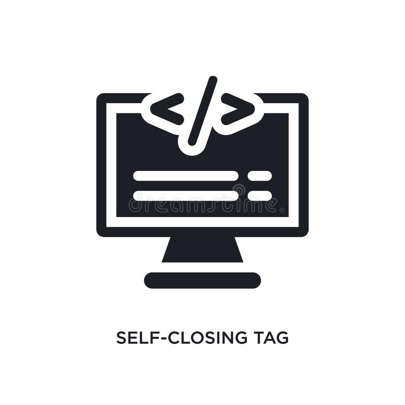 selbstschließend Umbau lokalisierte Ikone einfache Elementillustration von den Technologiekonzeptikonen editable Logozeichen des  stock abbildung